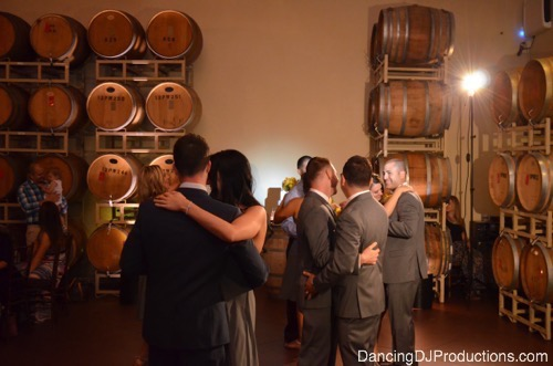 First Dance at Ponte Winery Barrel Room